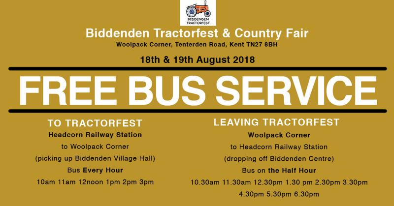 Free Bus Service To and From Tractorfest